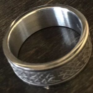 Other - Stainless Steel Silver Tribal Men's Ring Size 9